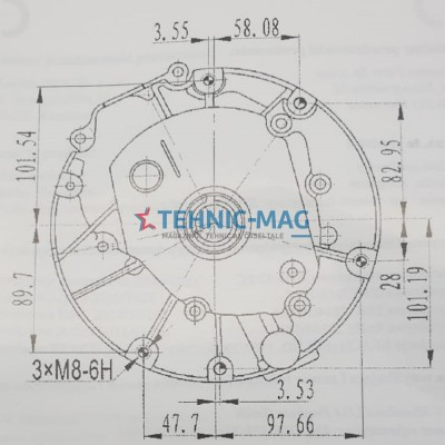 Motor motosapa, motocultor 6. 5cp ax vertical 22. 2 x 50mm
