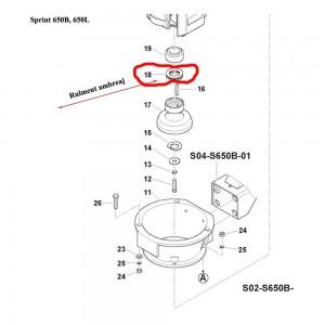 Rulment carcasa ambreaj  Sprint 650L, 650B, 550H, Farm 450