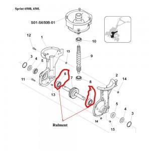 Rulment ax roata melcata Sprint 650B, 650L, 550H, Farm 450